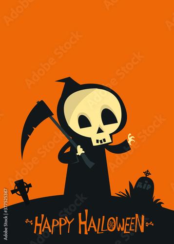 Fotografija Cartoon grim reaper