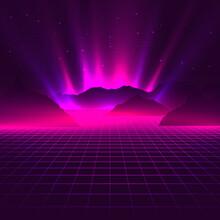 Vaporwave Aesthetic Neon Glowi...