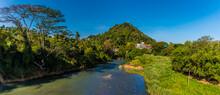 A View Across The Mahaweli River At Kandy, Sri Lanka, Asia