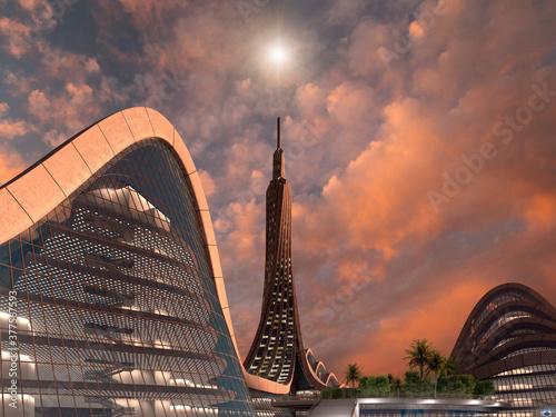 Fotografiet Futuristic city architecture