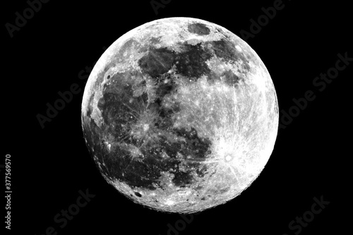 Fotografie, Obraz the Earth's natural satellite, the moon in its different phases over the city of