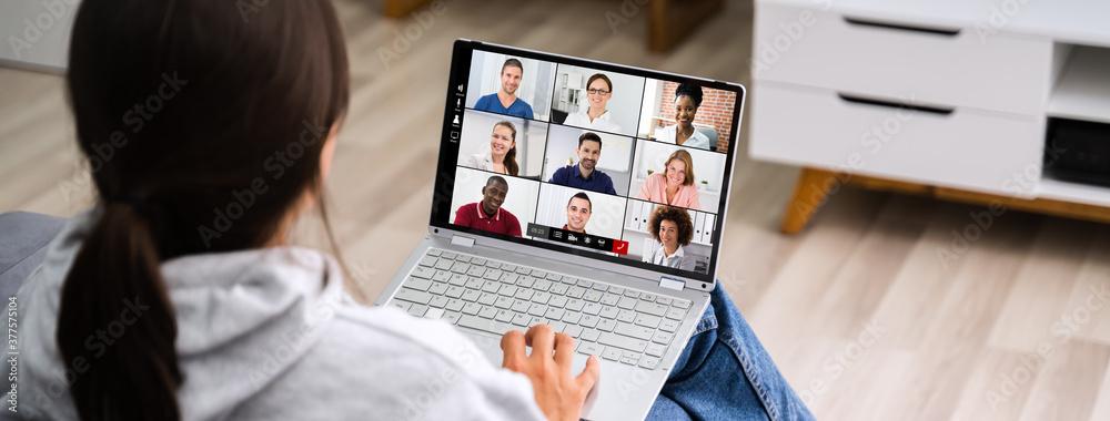 Fototapeta Video Conference Work Webinar Online - obraz na płótnie
