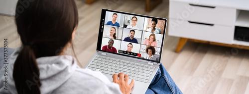 Fototapeta Video Conference Work Webinar Online obraz na płótnie