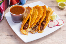 Authentic Birria Tacos For Dip...