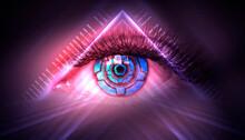 Close-up Biometric Scan Of A F...