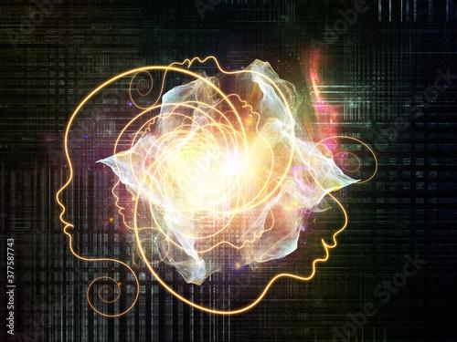 Fototapeta AI Network obraz