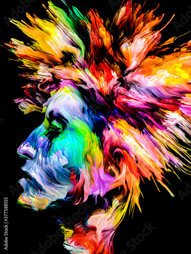 Fototapeta Abstract Portrait of Young Lady obraz