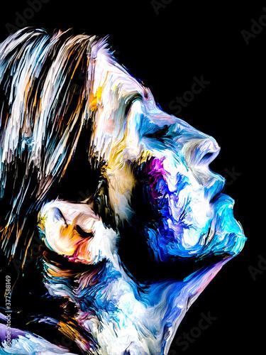 Fototapeta Colorful Abstract Female portrait obraz