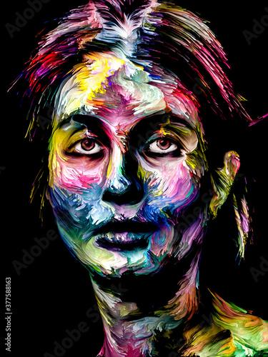 Fototapeta Color Lady obraz