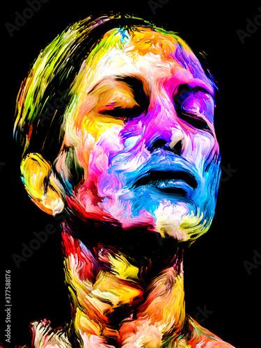 Fototapeta Color Paint Portrait obraz
