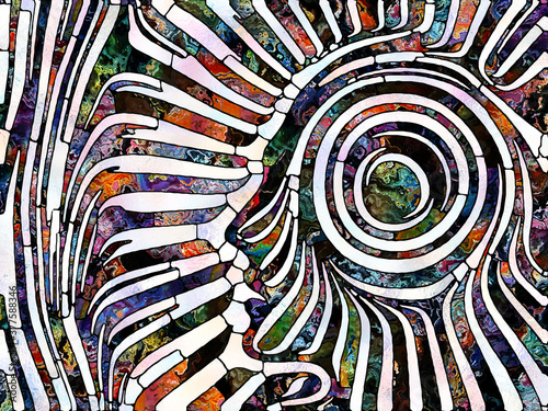 Fototapeta Metaphorical Stained Glass obraz
