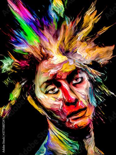 Fototapeta Abstract Paint Portrait obraz