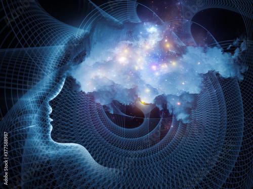 Obraz na plátně Charting Consciousness.