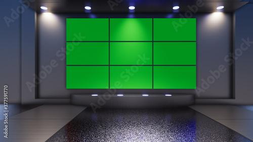 Fototapeta 3D Virtual TV Studio News obraz