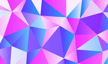 Color Blend Low Poly Background Design. Low Poly Background In Various Colors. Low Poly Color Design.Vector