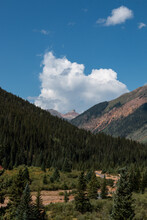 Mountain And Valley Views On The Million Dollar Highway Colorado