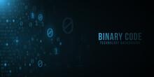Binary Code Background. Hi-tec...