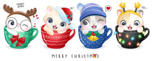 Cute Doodle Kitty For Christma...