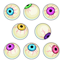 Creepy Eye Vector Illustration...
