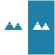 Square Bicolor Negative Space Mountain Logo