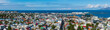 High angle view of the Reykjavik city center in Iceland