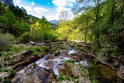 Rio mundo en la sierra del segura Billede på lærred