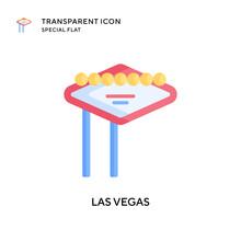 Las Vegas Vector Icon. Flat Style Illustration. EPS 10 Vector.