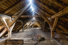 The Attic Of An Old Ruined House