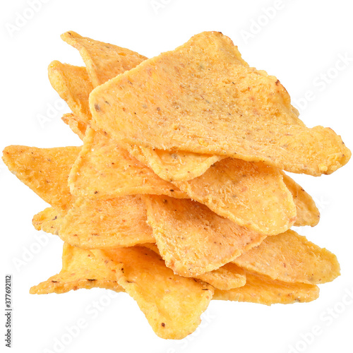 Foto Heap of corn chips isolated