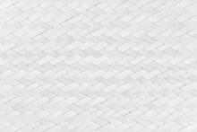 White Texture Bamboo Weaving. ...