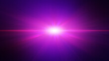 Futuristic Pink Purple Light Ray Beam Explosion, Abstract Background.