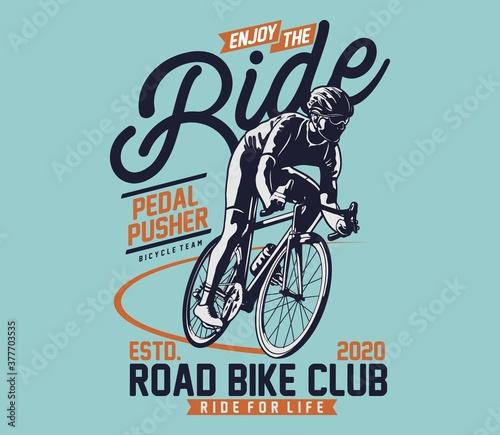 Fényképezés Road Bike for T shirt graphic