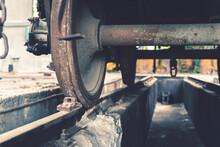 Train Wheels In The Hangar For...
