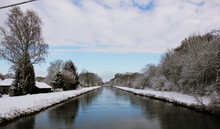 River In Winter With Snow - R...