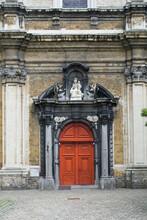 Small Beguinage Onze-Lieve-Vrouw Ter Hoye (Petit Béguinage Notre-Dame De Hoye), Church, Door, Ghent, Belgium, Unesco World Heritage Site