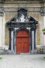 Small Beguinage Onze-Lieve-Vrouw Ter Hoye (Petit Béguinage Notre-Dame De Hoye), Church, Door, Gent, Belgium, Unesco World Heritage Site