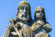 Close Up Saint Joseph With Lit...