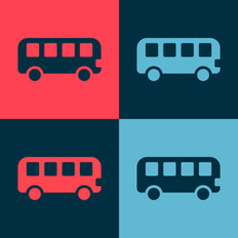 Pop Art Bus Toy Icon Isolated ...