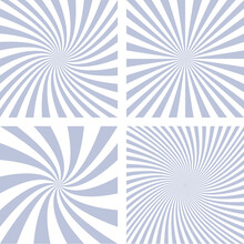 Spiral Ray Background, Vector Design From Grey Rotated Rays Free Vector. Vector Illustration For Swirl Design.