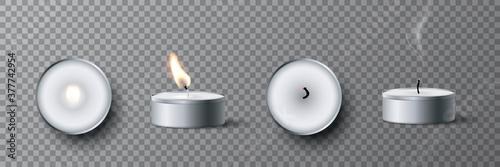 Cuadros en Lienzo Small white tea candle set