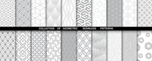 Geometric Set Of Seamless Gray...