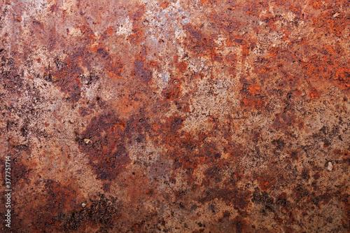 Fototapeta Dark worn dirty rusty metal. Textured background obraz