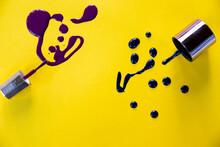 Splashes Of Purple Nail Polish...