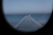 Dusk View From Airplane Window (British Airways)