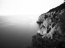 Croatian Coastline In Black An...