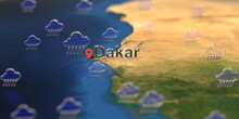 Dakar City And Rainy Weather I...