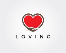 Minimal Love Logo Template - V...