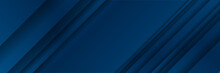 Blue Banner Background With  F...