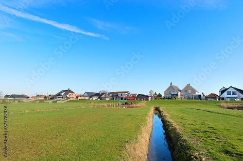 Fotografía Dutch landscape polder Eemdijk