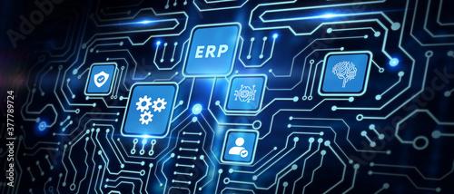 Enterprise resource planning ERP concept Fototapet